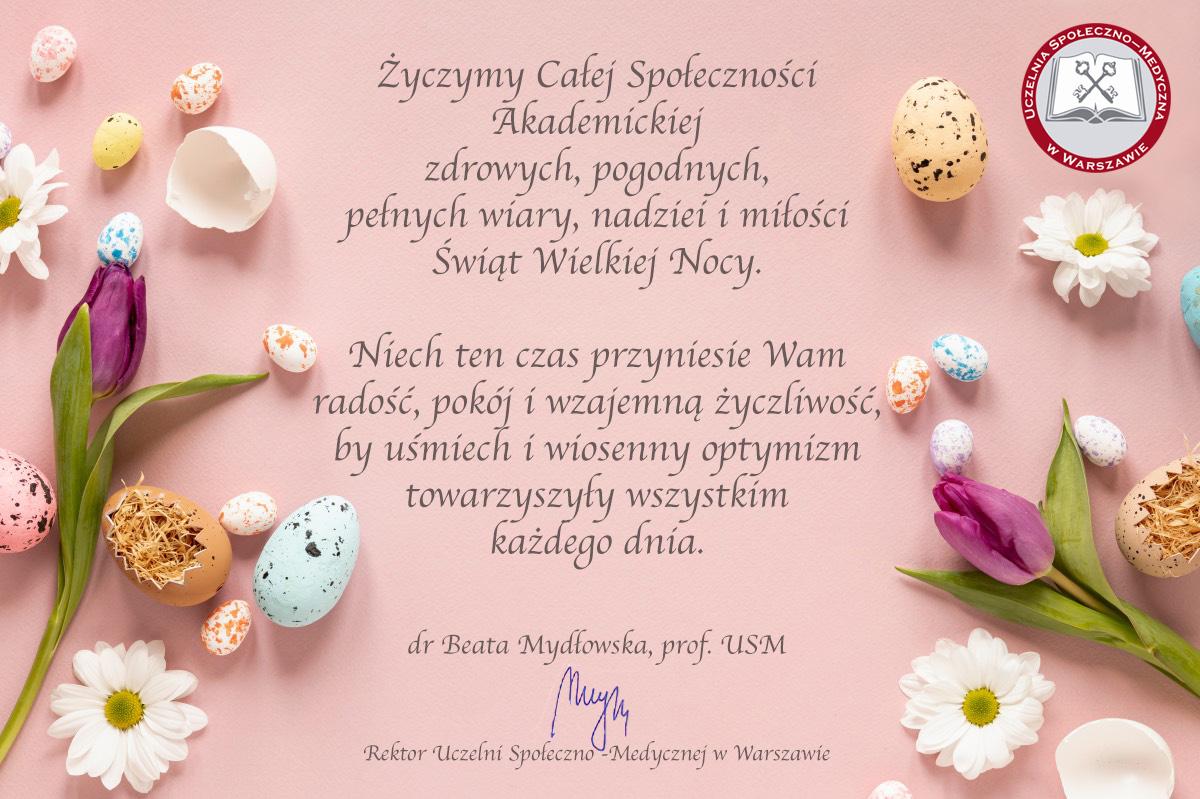 Życzenia Wielkanocne Rektora USM