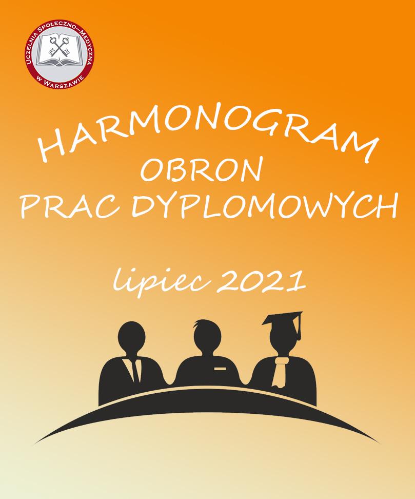 Harmonogram obron prac dyplomowych