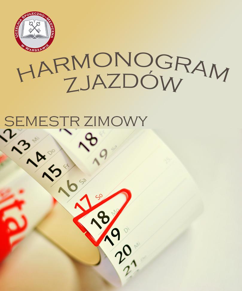 Harmonogram zjazdów w semestrze zimowym 2021/2022
